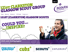 Tablet Preview of 121glasgowscouts.org.uk